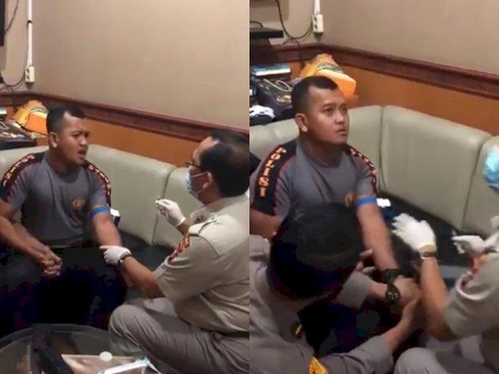 Cerita di Balik Polisi yang Teriak Ketakutan saat Disuntik