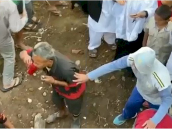 Heboh, Lelaki Tua Ini Tiba-tiba Minum Darah Hewan Kurban, Polisi Sebut Kurang Waras