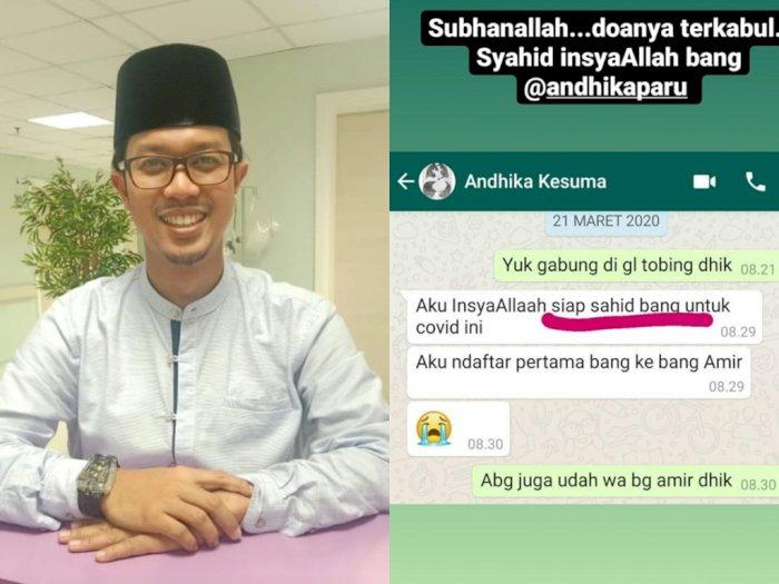 Pesan Mengharukan dr Andhika Kesuma Sebelum Meninggal: Aku Siap Syahid untuk COVID-19