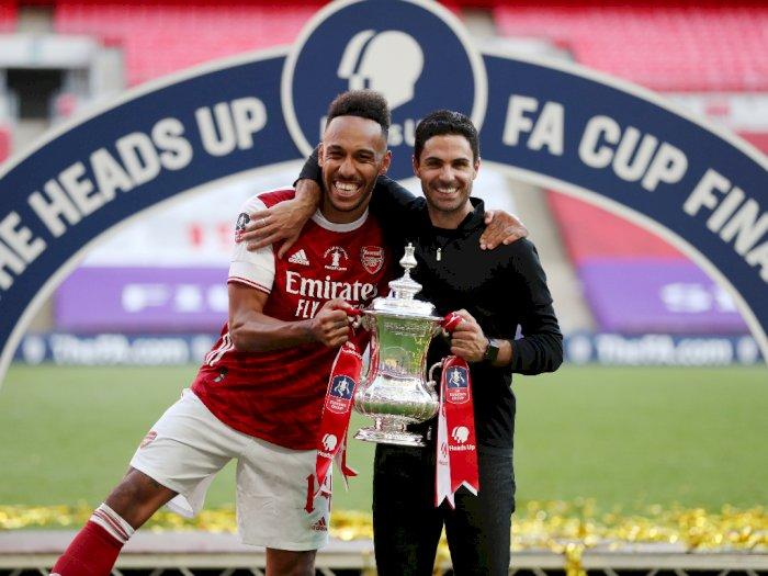 Mikel Arteta Tantang Aubameyang untuk Jadi Legenda Arsenal