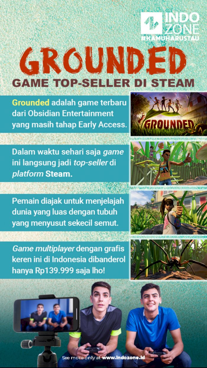 Grounded, Game Top-Seller di Steam