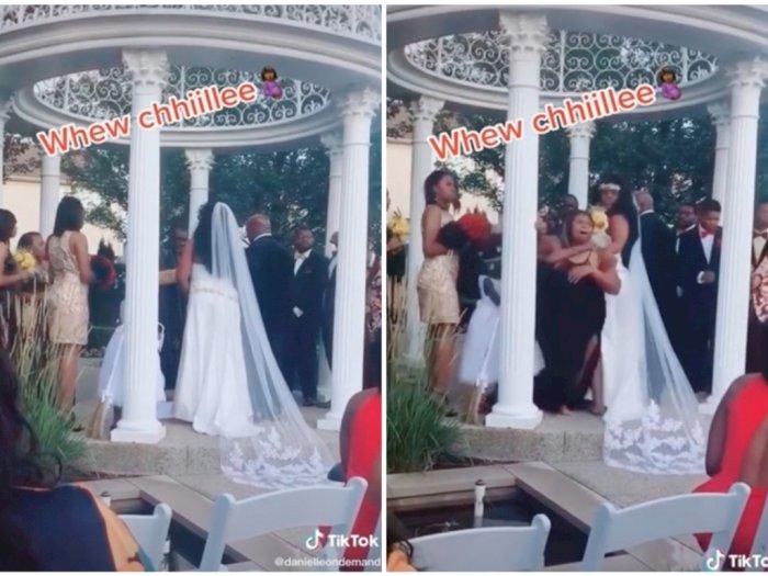 Acara Pernikahan 'Rusak' karena Kedatangan Mantan Pacar yang Sedang Hamil