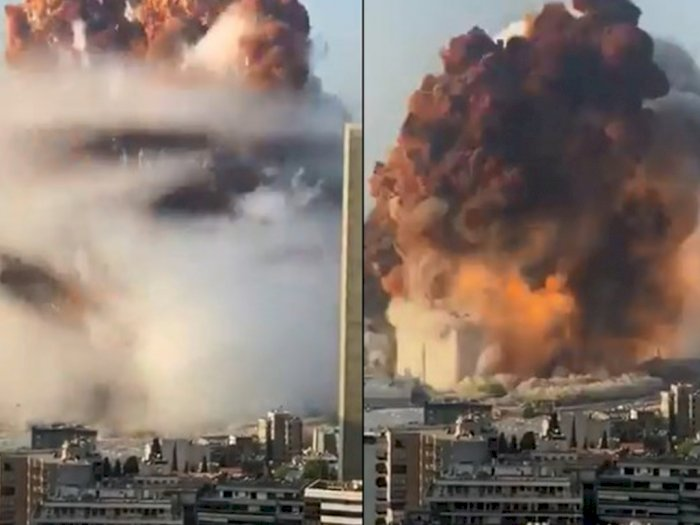 Ledakan Dahsyat Luluh Lantakkan Ibukota Lebanon, Sedikitnya 78 Orang Tewas, Ribuan Terluka