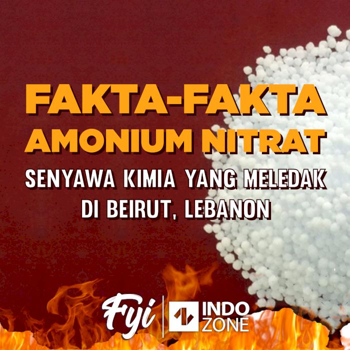 Fakta-Fakta Amonium Nitrat, Senyawa Kimia Yang Meledak Di Beirut