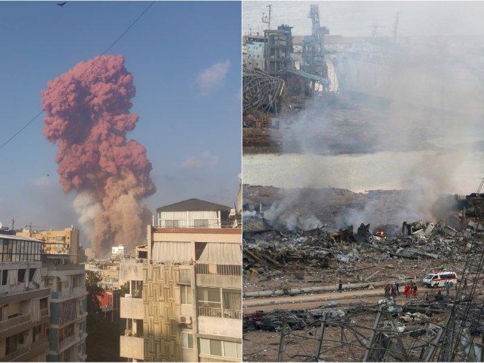 Ledakan di Beirut Sisakan Cerita Pilu, Korban Selamat: Semua Gedung di Sekitar Sini Runtuh