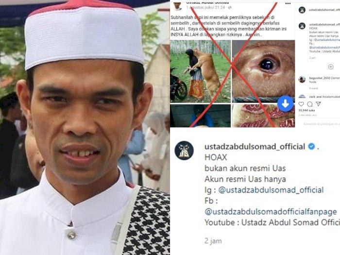 Hati-hati, Ada Akun Palsu Catut Nama Ustaz Abdul Somad Sebar Berita Hoax