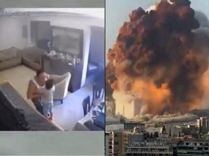 Viral Video Ayah Peluk Anaknya saat Ledakan di Lebanon, hingga Sembunyi di Bawah Meja