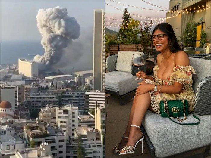 Eks Aktris Porno Mia Khalifa  Bawa-bawa Allah, Tuding Hezbollah Dalang Ledakan di Lebanon