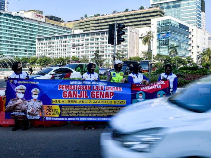 Hasil Evaluasi Sosialisasi Ganjil Genap di Jakarta selama 3 Hari: Ada Ribuan Pelanggar