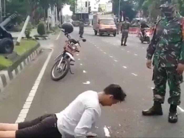 Video Cowok Ganteng Dihukum Push-Up oleh TNI, Gerakan Push Up-nya Bikin Malu