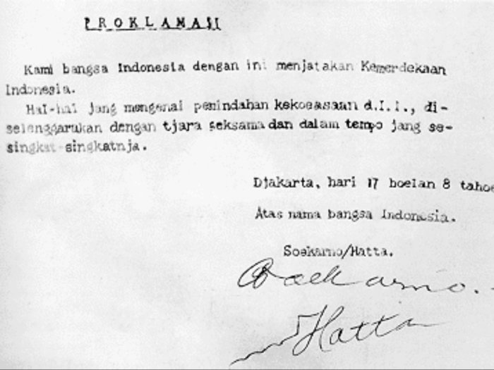 Perumusan Naskah hingga Detik-detik Proklamasi Kemerdekaan Indonesia