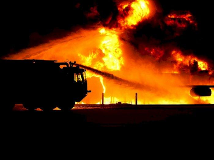 Kebakaran Truk Tangki Pertamina Medan Marelan, Satu Orang Luka Parah