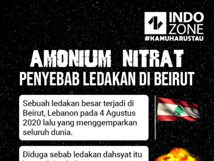 Amonium Nitrat, Penyebab Ledakan di Beirut