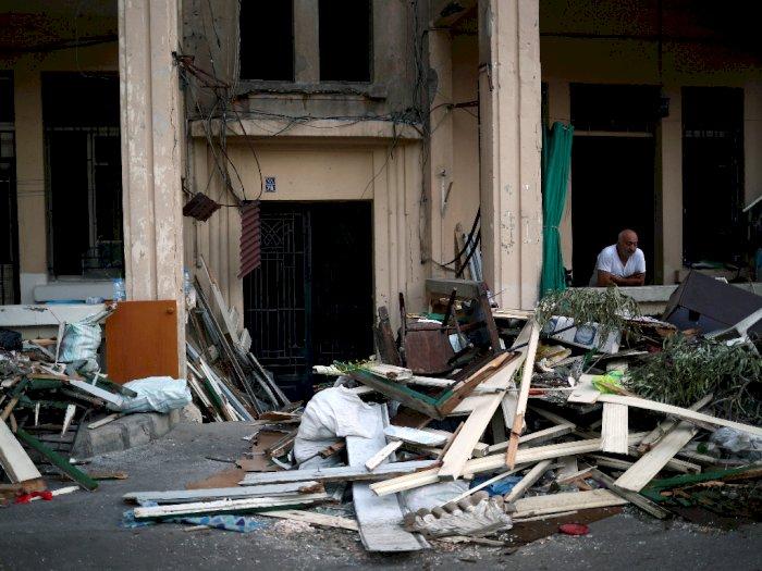 FOTO: Puing-puing Pasca Ledakan Beirut