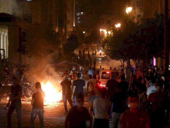 Ledakan di Beirut Dinilai Menambah Beban, Warga Lebanon Demo Tuntut Pemerintah Mundur