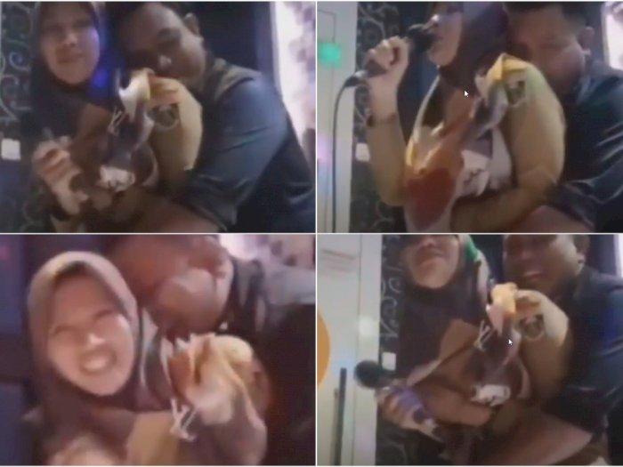Lampung Geger, Oknum Kepala Kampung ini Rekam Aksi Peluk Istri Orang di Ruang Karaoke