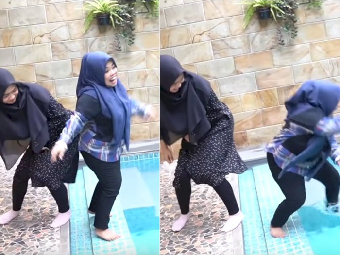 Ria Ricis Dikritik Netizen karena Sengaja Senggol Kekeyi Hingga Kaki Terbentur Tepi Kolam