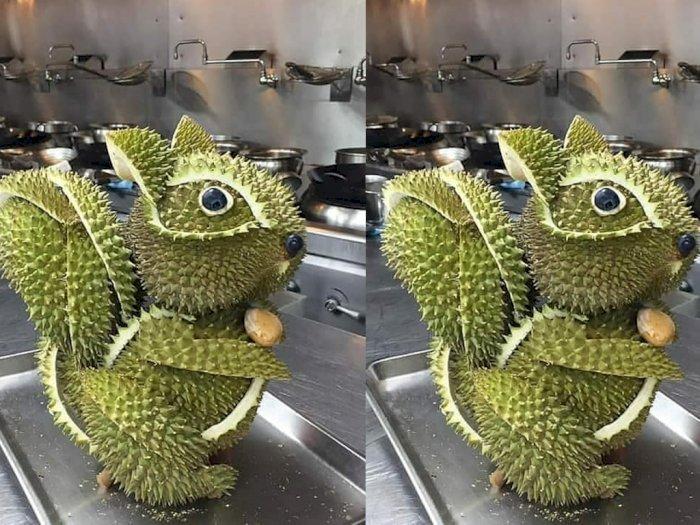 Kreatif Kali, Warganet Ini Ubah Kulit Durian Jadi Boneka yang Unik