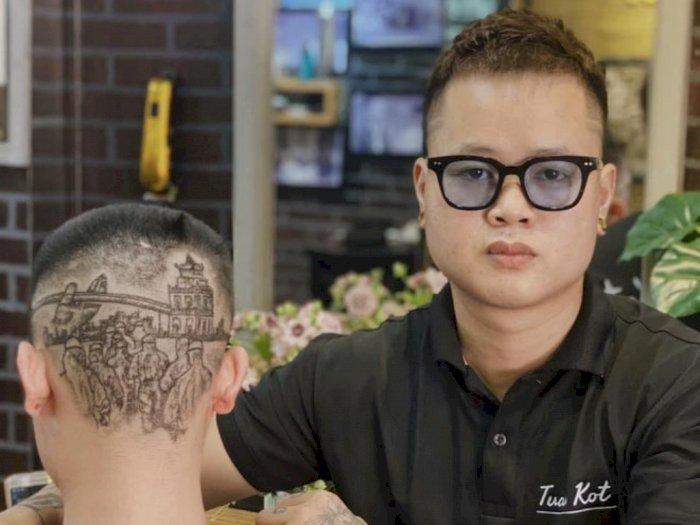 Berkarya dengan Pisau Cukur, Penata Rambut di Vietnam Ini Hasilkan Gaya Rambut Keren!