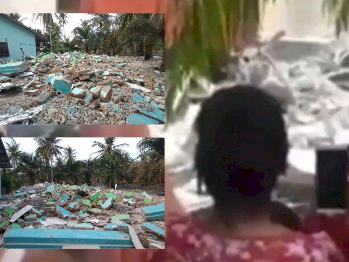 Prajurit TNI Ngamuk Robohkan Rumah Istri Muda Ayahnya, Berikut Foto-foto Kondisi Teranyar