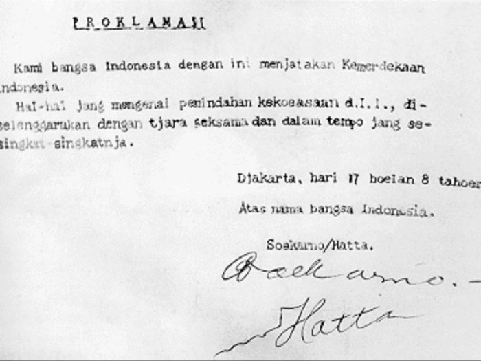 8 Fakta Penting Teks Proklamasi Kemerdekaan Indonesia Asli (Klad) dan Otentik