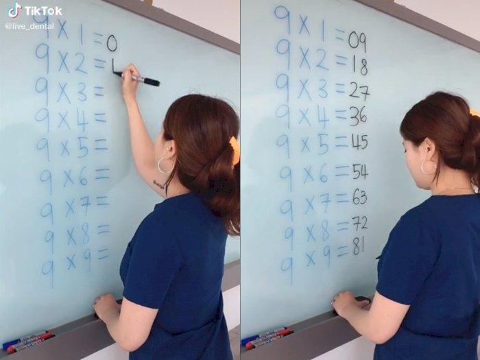 Video, Wanita  Ini Bagikan Tips Hitung Cepat Matematika Perkalian Sembilan