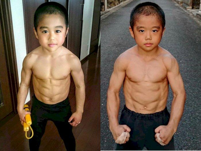 Jago Bela Diri, Bocah 10 Tahun Asal Jepang ini Punya Otot yang Luar Biasa