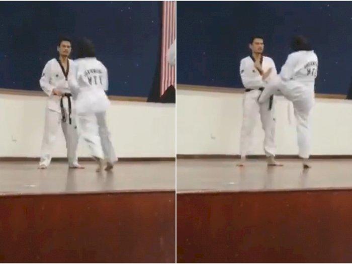 Sparing Taekwondo, Cewek Ini Kalahkan Gurunya dengan Sepakan Penghancur Masa Depan