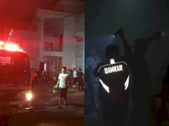 Arus Pendek Diduga Sebabkan Kantor Bupati Labuhanbatu Terbakar