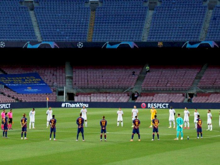 FOTO: Dua Gol Messi Menangkan Barcelona atas Napoli 3-1