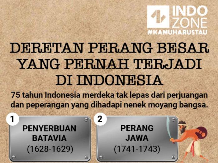Deretan Perang Besar yang Pernah Terjadi di Indonesia