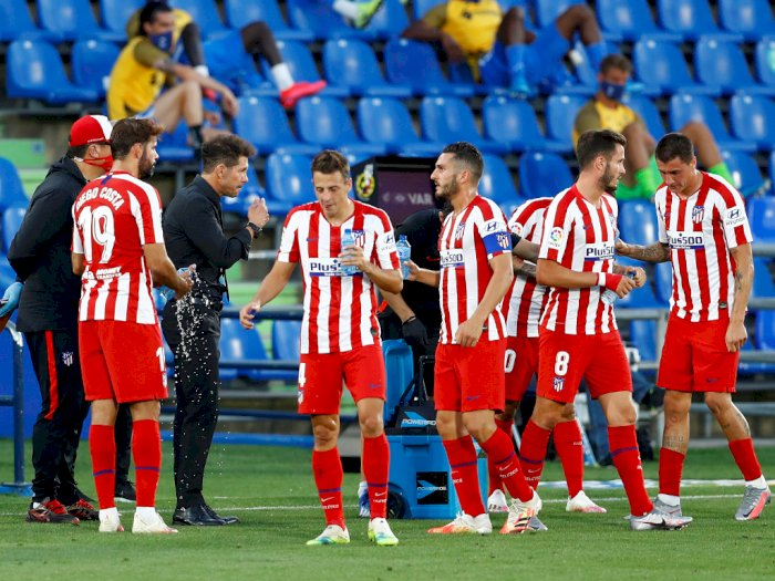 Pemain Atletico Madrid Angel Correa dan Sime Vrsaljko Positif Covid-19