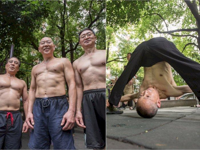 Berusia 70 Tahun, Kakek-kakek Ini Tetap Berotot dengan Perut Sixpack, Bikin Anak Muda Malu