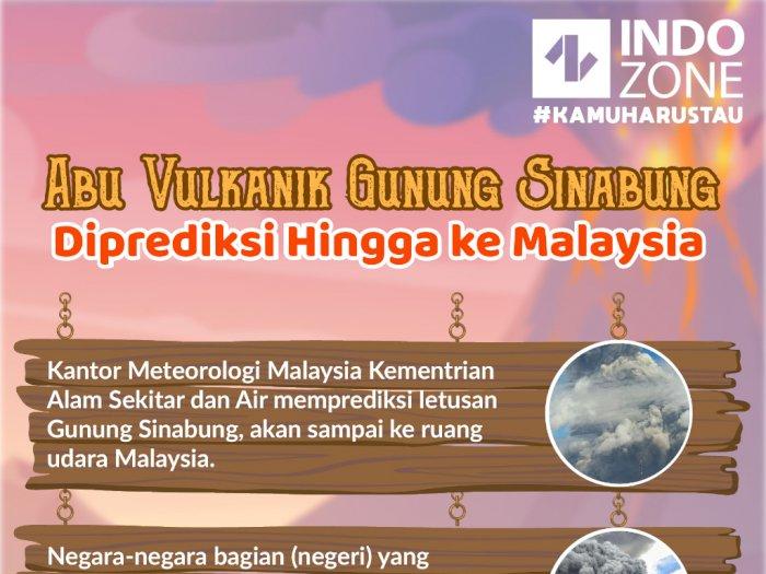 Abu Vulkanik Gunung Sinabung Diprediksi Hingga ke Malaysia