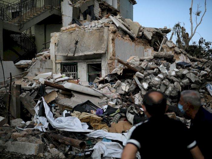 FOTO: 8.000 Bangunan Hancur Akibat Ledakan Dahsyat di Beirut