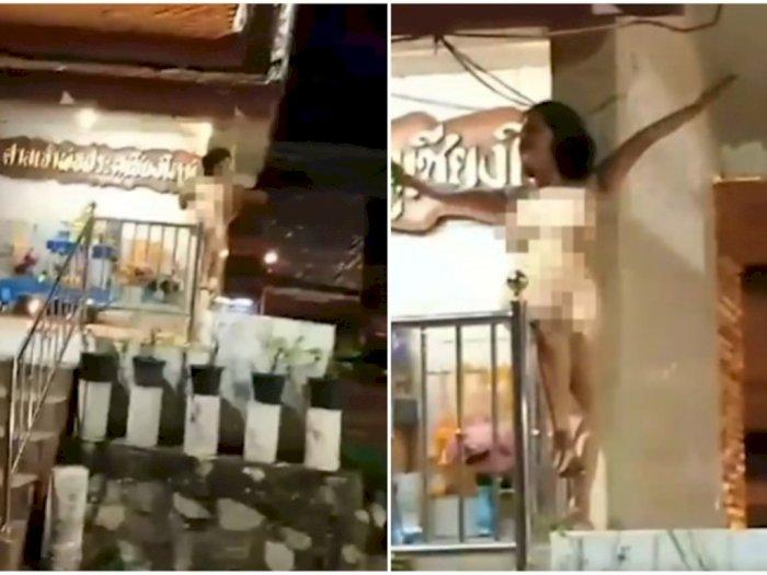 Perempuan Ini Mabuk Lalu Telanjang di Depan Kuil, 'Berkicau' Sambil Minum Bir Kaleng