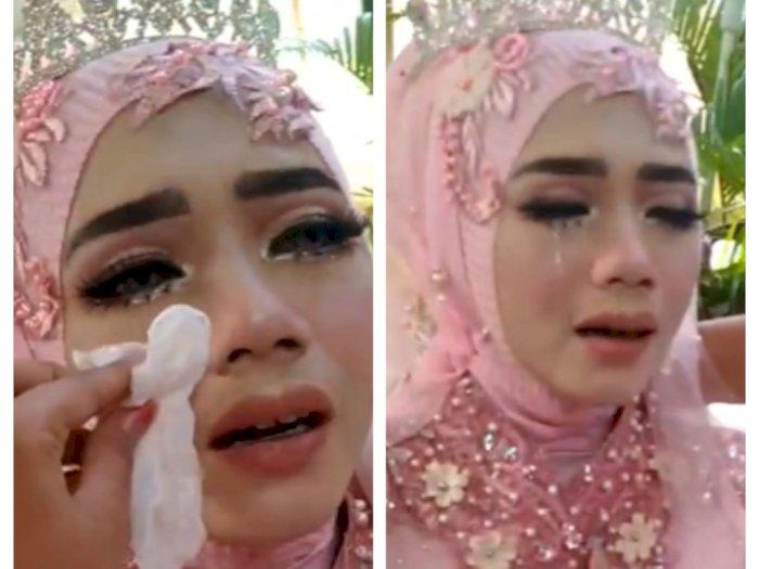 Pengantin Wanita Ini Nangis Sejadinya di Hari Pernikahan, karena Sosok Ini Tak Menemaninya