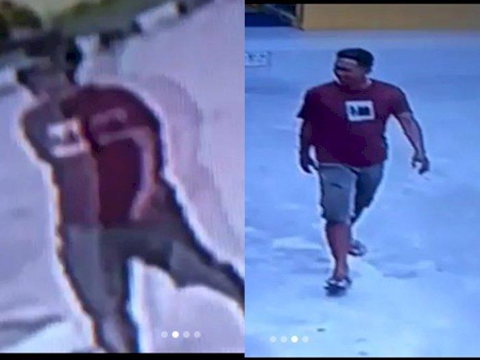 Terekam CCTV! Aksi Pelaku Curanmor di Pom Bensin Labuhan Batu Utara