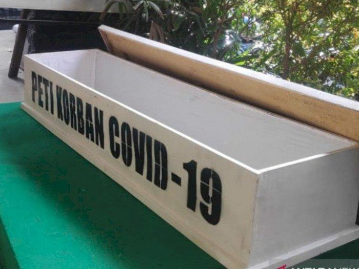 Pemkot Jakarta Pusat Gunakan Peti Jenazah untuk Sosialisasikan Bahaya COVID-19