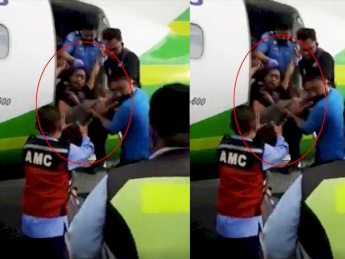 Viral Video Pria Gangguan Jiwa Masuk ke Dalam Pesawat Citilink