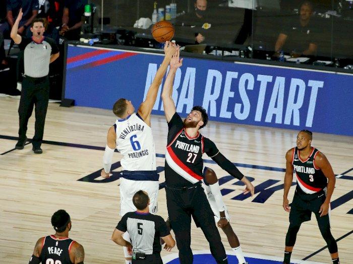 FOTO: Portland Trail Blazers menang tipis atas Dallas Mavericks