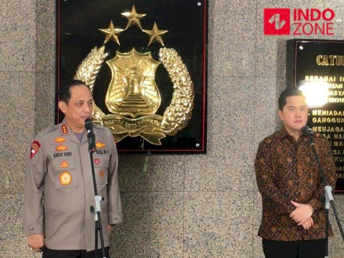 Erick Thohir Rapat Bereng Polri, Bahas Penanganan Covid-19 dan Pemulihan Ekonomi