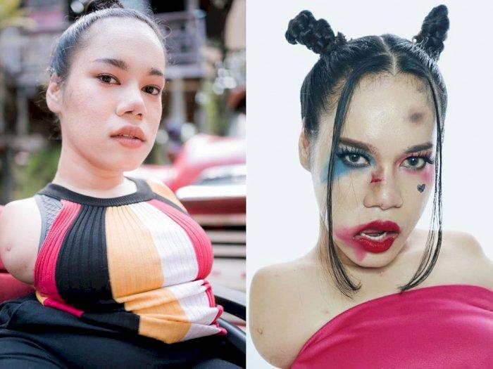 Aplikasikan Makeup dengan Kaki, Wanita Ini Tuai Pujian dari Warganet