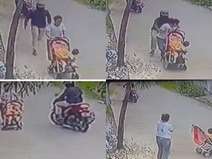 Lelaki Terekam Kamera Remas Payudara Wanita yang Sedang Membawa Bayi, Ini Videonya