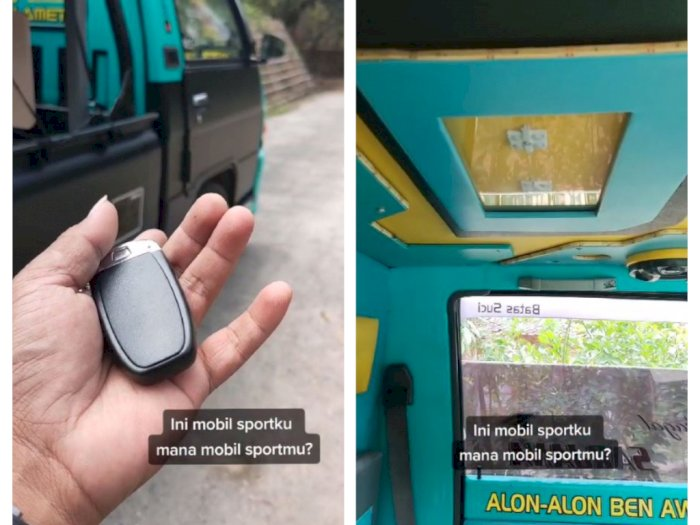 Pengen Punya Mobil Sport, Pria Ini Modifikasi Pikap Jadi Keren Banget, Keyless Cuy!