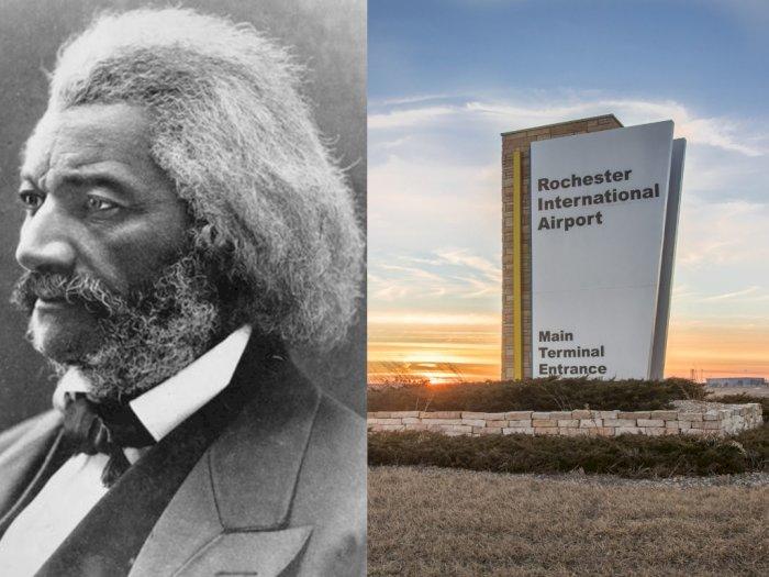 Nama Frederick Douglass Disematkan Dalam Bandara Rochester New York