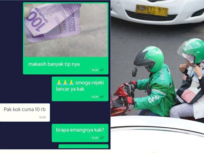 Cerita Sedih Driver Ojol yang Uang Tipnya Ditilep OB, Disisain Hanya Rp10 Ribu