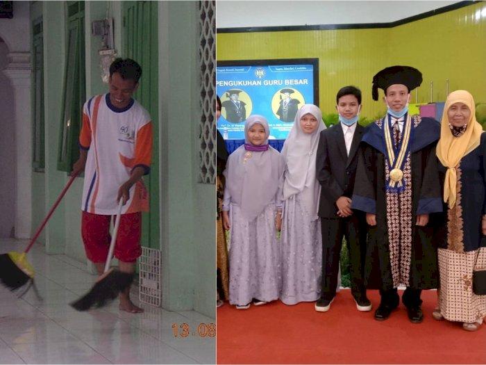Kisah Inspiratif Udin, 22 Tahun Lalu Hanya Marbot Masjid Kini Menjadi Profesor