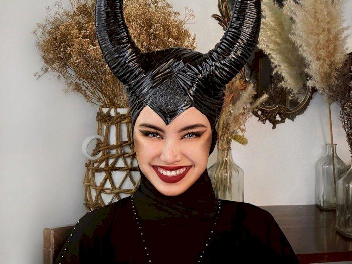 Di Luar Batas Wajar, Wanita Ini Kenakan Hijab Seperti Maleficent