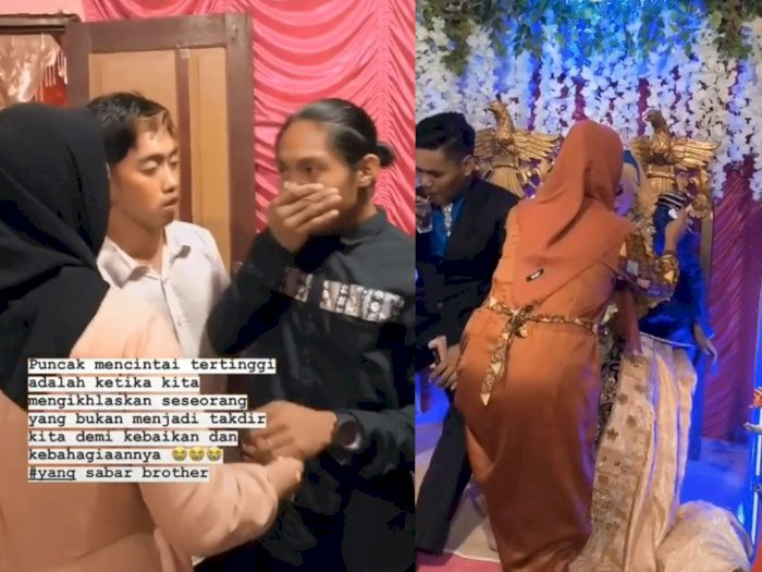 Viral Video Pria Gondrong Datangi Nikahan Mantannya, Sang Wanita Tak Kuasa Tahan Tangis